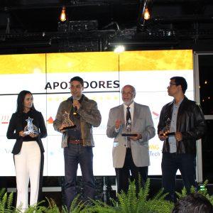 Apoiadores: Andreas Flugs, CEO Techmall; Ana Carolina, Azevedo Sette Advogados; Douglas Vieira, CEO da ENACOM; prof. Roberto Bigonha, Diretor-Presidente do BHTEC; Jaderson Trindade, BMG UpTech